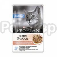 Pro Plan Nutrisavour Housecat Salmon in GravyПауч для домашних кошек Лосось в соусе