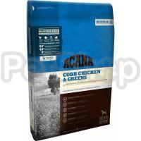 ACANA Cobb Chicken&Greens (акана сухой корм для взрослых собак курица/зелень)