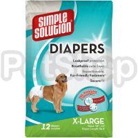 SS Disposable Diapers X-Large (12 p) /Гігієнічні підкладки для тварин великі по 12шт