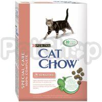 Cat Chow Adult Sensitive(кэт чау корм для котов с чувительным пищеварение)