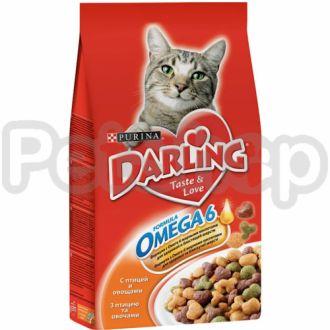 Darling (дарлинг) с птицей и овощами сухой корм для взрослых котов