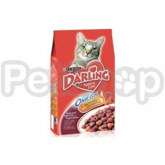 Darling (дарлинг) с мясом и овощами сухой корм для взрослых котов