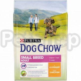 Dog Chow Adult Small Breed - корм Дог Чау для собак мелких пород с курицей
