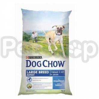Дог Чау Dog Chow Adult Large Breed Turkey для взрослых собак крупных пород