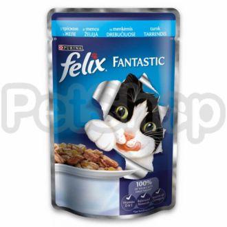 Felix® SensationsSauces(Фелікс Сенсейшнз Соуси). З індичкою в соусі зі смаком бекону. Шматочки у соусі.