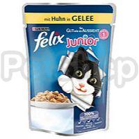 Феликс Felix Fantastic JUNIOR кусочки с курицей в желе для котят