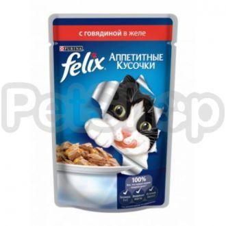 Феликс Felix Fantastic  кусочки с говядиной в желе
