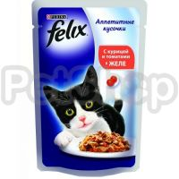 Феликс Felix Fantastic  кусочки с курицей и томатами в желе