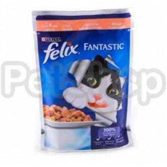 Феликс Felix Fantastic  кусочки с лососем в желе