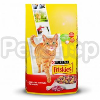 Фрискис FRISKIES для взрослых котов мясо/курица/овощи