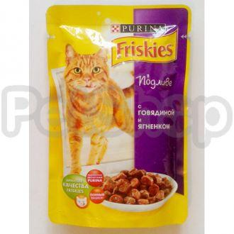 Фрискис Friskies консерва с ягненком в подливе