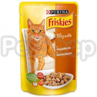 Фрискис Friskies консерва с индейкой и морковью в подливе
