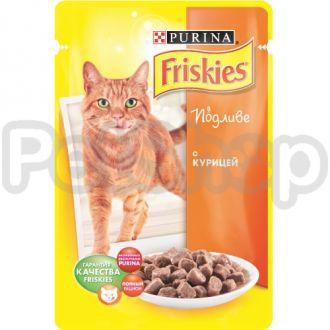 Фрискис Friskies консерва с курицей в подливе