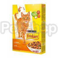 Фрискис FRISKIES для взрослых котов курица/овощи