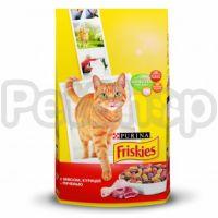 Фрискис FRISKIES для взрослых котов мясо/курица/печень
