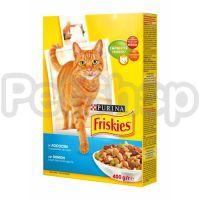 Фрискис FRISKIES для взрослых котов лосось/овощи