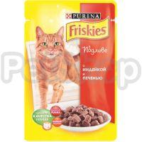 Фрискис Friskies консерва с индейкой и печенью в подливе
