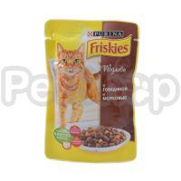 Фрискис Friskies консерва с говядиной и морковкой в подливе