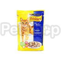 Фрискис Friskies консерва с тунцом и морковкой в желе