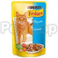 Фрискис Friskies консерва с лососем в подливе