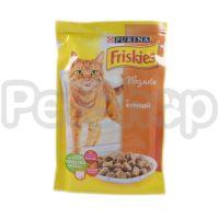 Фрискис Friskies консерва для котят с курицей в подливе