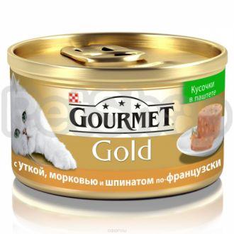 Гурмет голд GOURMET GOLD паштет с кусочками утка/морковь/шпинат