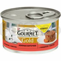 Гурмет голд Gourmet Gold Нежные Биточки с говядиной и томатом