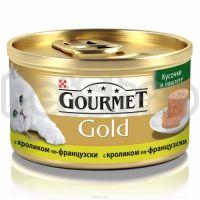 Гурмет голд GOURMET GOLD кусочки в паштете кролик по-франц.