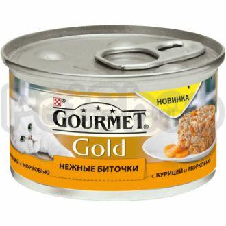 Гурмет голд Gourmet Gold Нежные Биточки с курицей и морковью
