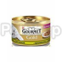 Гурмет голд GOURMET GOLD кусочки в соусе кролик/печень