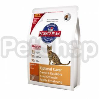 Hill's SP Feline Adult Optimal Care Lamb (хиллс для котов с ягненком)
