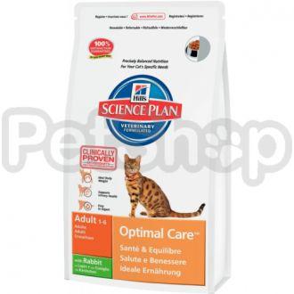 Hill's SP Feline Adult Optimal Care Rabbit (хиллс для котов с кроликом)