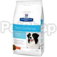 HILL'S PRESCRIPTION DIET DERM DEFENCE Сухой корм для взрослых собак защита кожи при дерматитах и потере шерсти