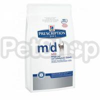 Hill's PD Feline m/d (хиллс Сухой корм для лечения сахарного диабета и ожирения у кошек)