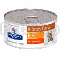Влажний корм для котов Hill's prescription diet k/d с курицей 156 г