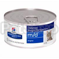 Влажный корм для кошек Hill's (Хиллс) PRESCRIPTION DIET m/d для лечения сахарного диабета и ожирения - 156 г