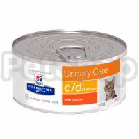 Консерва Hills PD Feline c/d 156 г для здоров'я нижніх сечовивідних шляхів котів (9451)