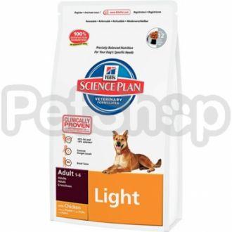 Hill's SP Canine Adult Light (хиллс корм для собак склонных к полноте)