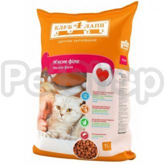 Клуб 4 лапы для кошек мясное филе