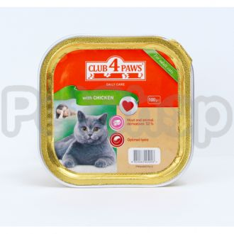 Клуб 4 лапы для котів паштет з куркою