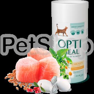 OPTIMEAL™. Полнорационный сухой корм для взрослых котов - курица
