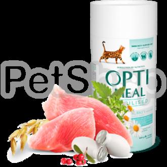 Optimeal Sterilized Adult Cat Корм для взрослых кастрированных/стерилизованных с индейкой и овсом
