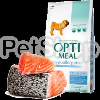 Optimeal Hypoallergenic Medium Гипоаллергенный корм для собак средних пород с лососем