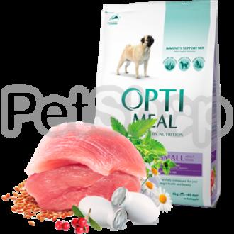 Optimeal Small Adult Dog Сухой корм для взрослых собак мелких пород с уткой