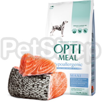 Optimeal Hypoallergenic Maxi Гипоаллергенный корм для собак крупных пород с лососем