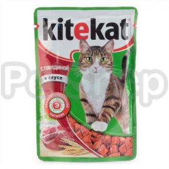 Китекат (Kitekat) пауч для взрослых ягненок в соусе