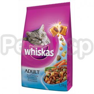 Вискас (Whiskas) для взрослых котов сух с тунцом