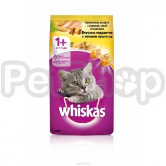 Вискас (Whiskas)подушечки нежный паштет курица/утка/индейка