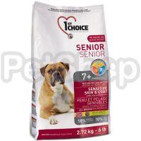 1st Choice (Фест Чойс) с ягненком и океанической рыбой сухой супер премиум корм для пожилых собак