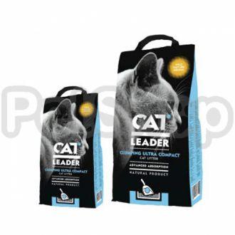 Кэт Лидер (CAT LEADER) с WILD NATURE ультра-комкующийся наполнитель в кошачий туалет